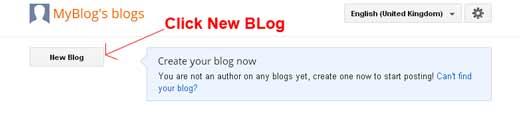 start new blog