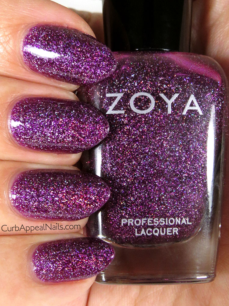 Zoya Aurora Purple Holographic Glitter Swatches