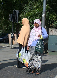 Muslim women in Shepherds Bush, London