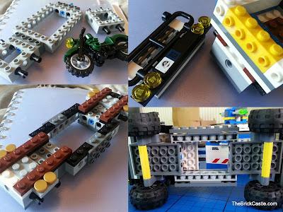 Jurassic World LEGO mobile vet unit chassis