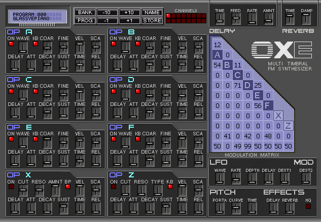 Oxe Software updated FM Synth to 1.3.3 (PC / MAC) - SYNTH ANATOMY