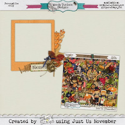 Just Us November from Wendy Tunison Designs