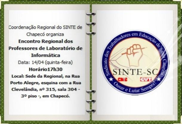 Encontro Regional de Professores de Laboratório de Informática será quinta-feira em Chapecó