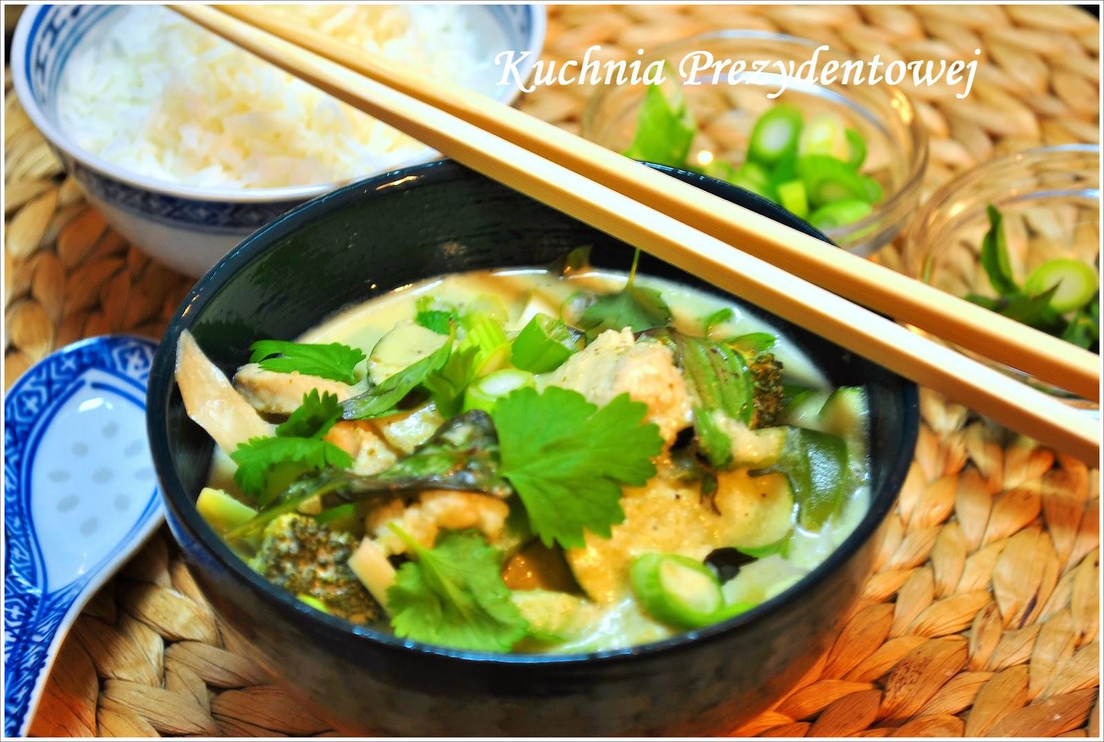 Kuchnia Prezydentowej Tajskie Zielone Curry Thai Green Curry