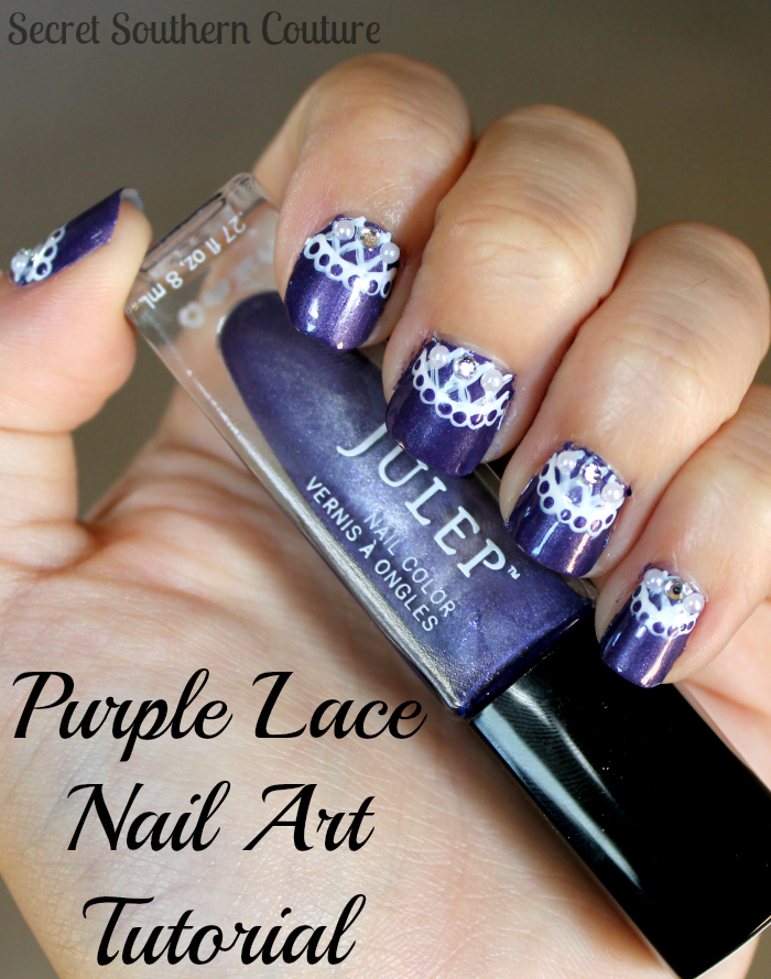 Secret Southern Couture Lace Veil Inspired Nail Art Tutorial