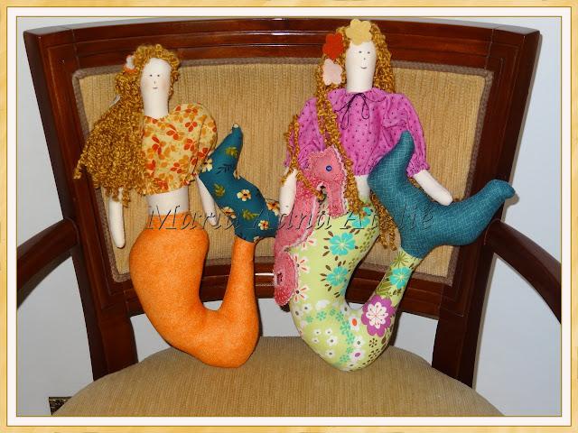 Bonecas, Sereias, Cavalo marinho, Bonecas de pano, Bonecas de tecido, Bonecas publicadas em revista, Maria Adna