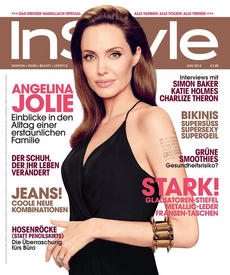 Angelina Jolie for InStyle Magazine, Germany, July 2014