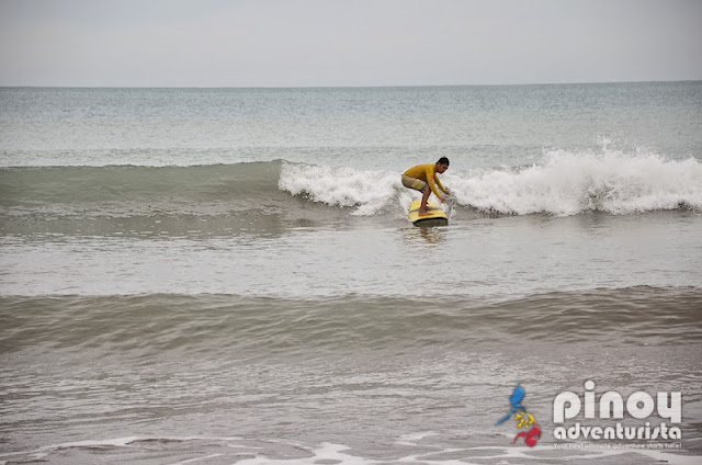 Surfing at Crystal Beach San Narciso Zambales