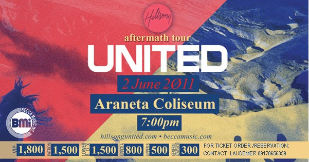 The Aftermath Tour: Hillsong United LIVE in Manila!, HILLSONG UNITED IN MANILA 2011: FREQUENTLY ASKED QUESTIONS, Hillsong United Live in Manila 2011 Tickets, poster, image, photos, review
