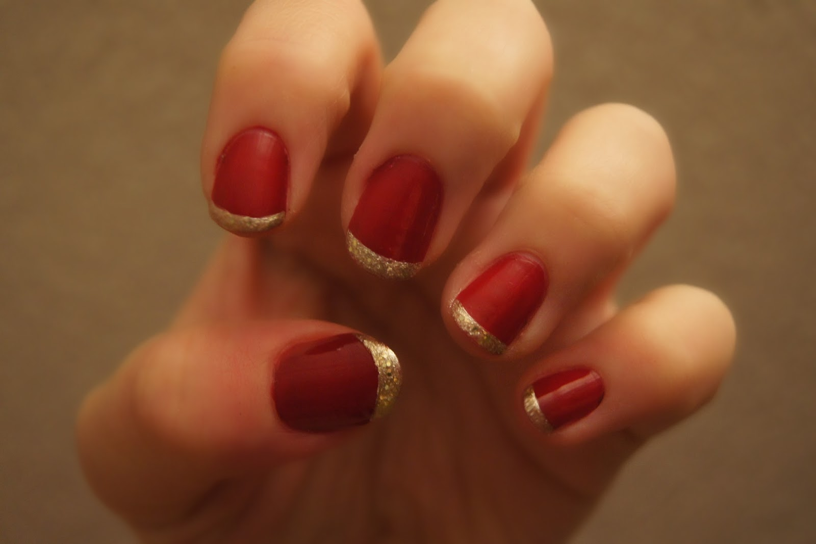 NOTD series: No.5 Christmas French Manicure  Barely There Beauty  A