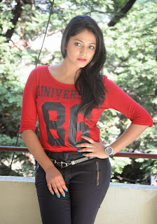 Hari Priya in Lovely Red T Shirt and Tight Black Trousers at Ee Varsham Sakshiga Success Meet