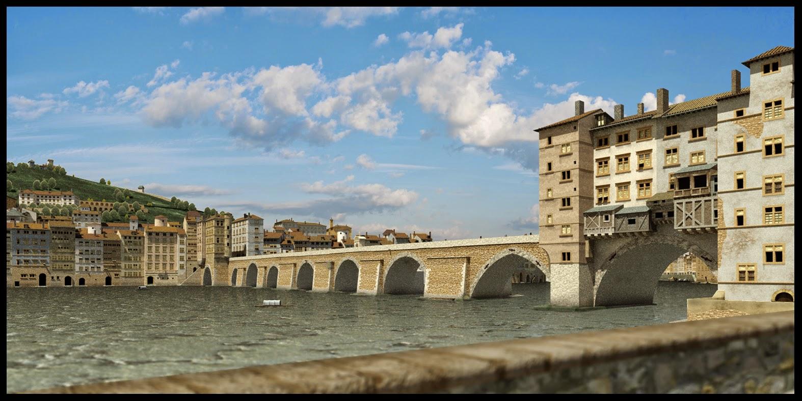 Lyon en 1700 le pont du change for Au dela du miroir lille