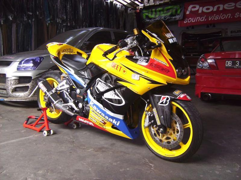 modifikasi motor ninja 250cc . Sekian dan semoga bermanfaat bagi Anda title=
