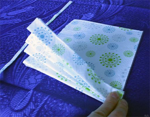 folde servietter vifte