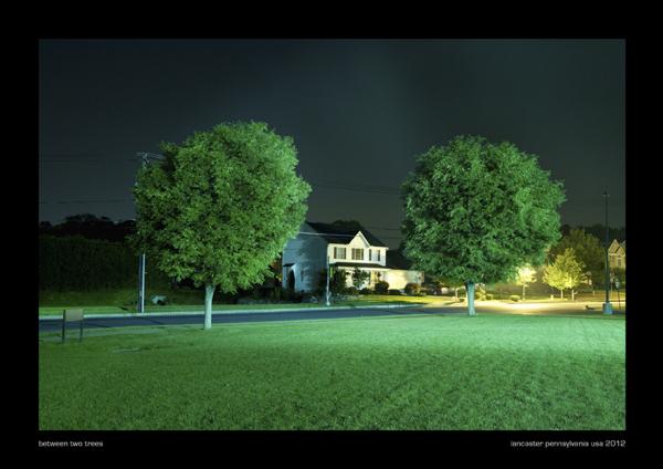 between two trees, lancaster pennsylvania usa 2012