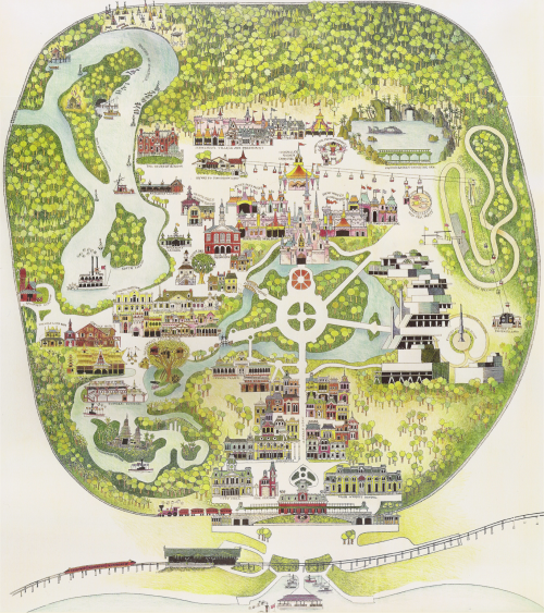 Disneyland Map 1970