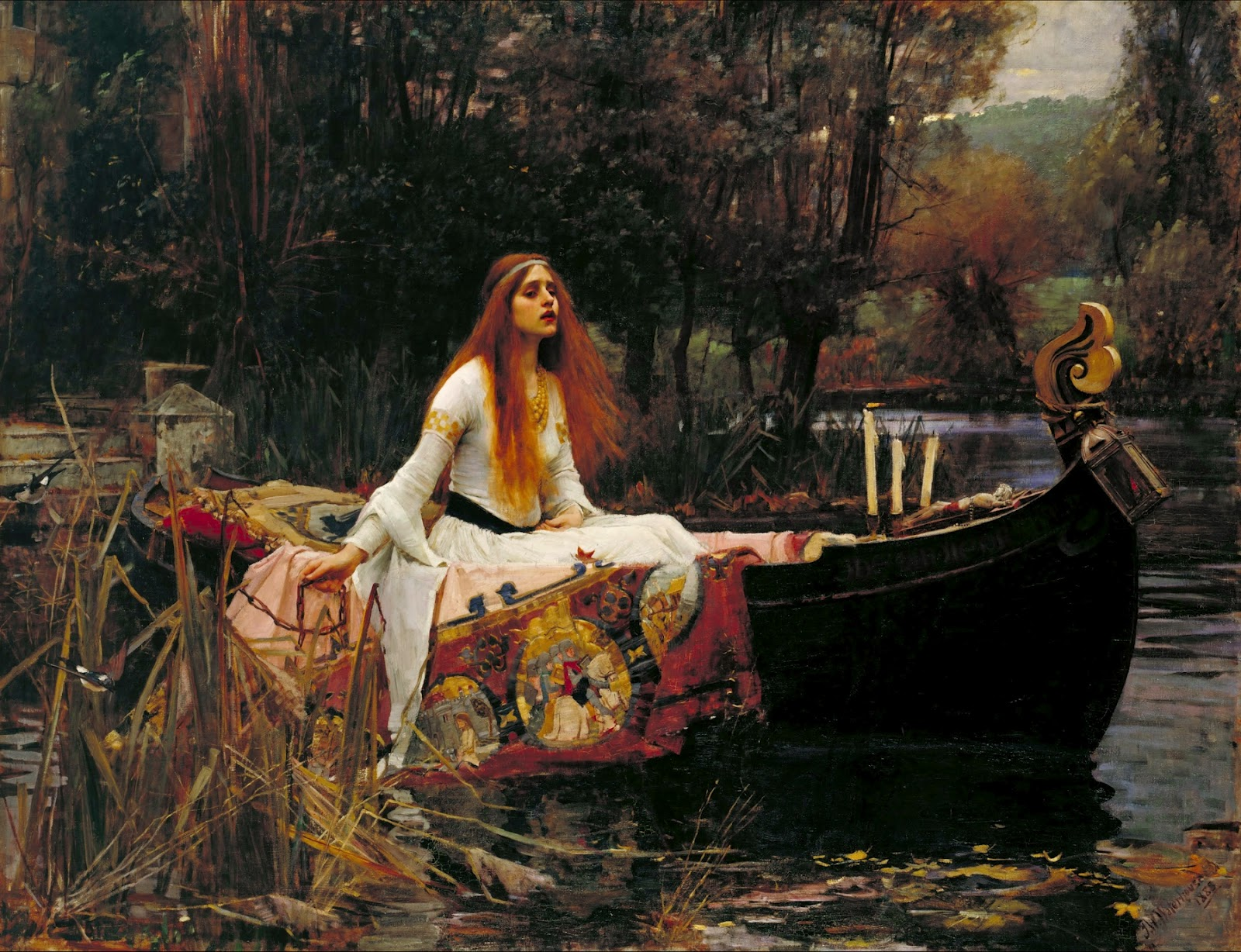 Waterhouse John+William+Waterhouse+-+The+Lady+of+Shalott