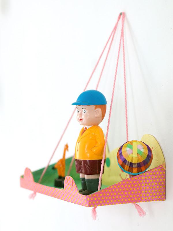 Easy DIY Kids Hanging Shelf