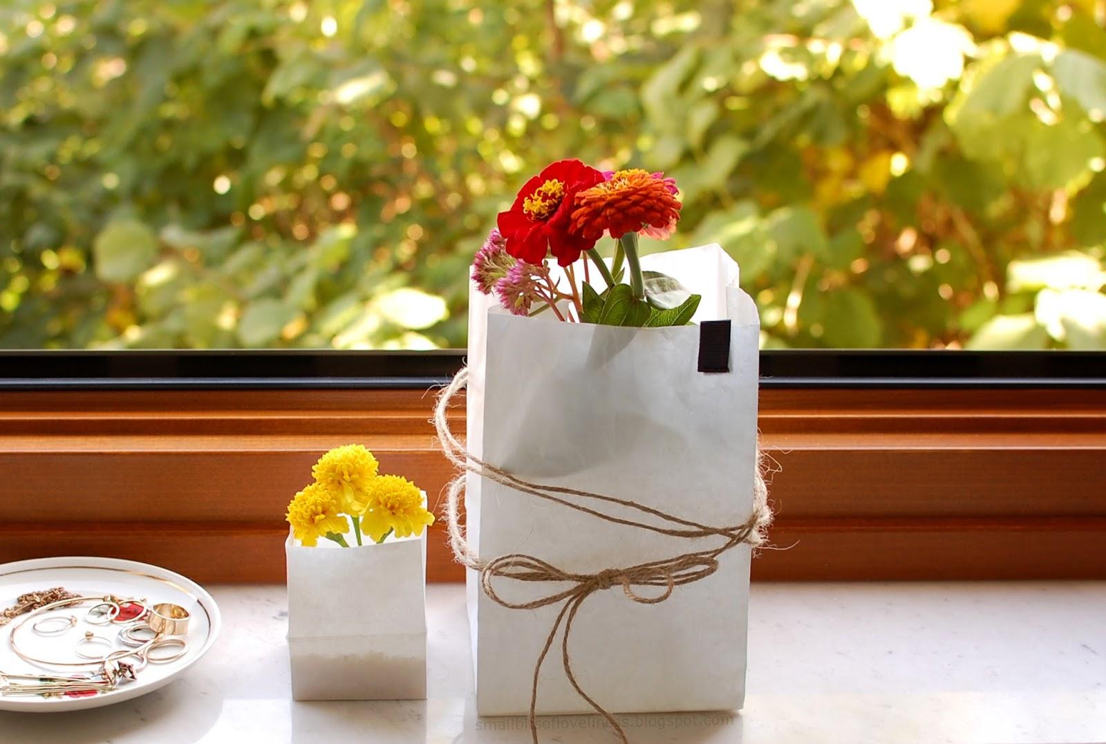 Tindra Square Japan M and Plain XS Bio-degredable Paper Bag Lanterns