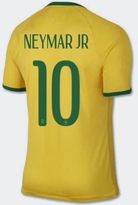 camisa da seleção brasileira 2014 Neymar número 10