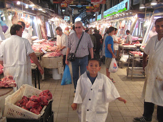 The new agora, the Central Market of Athens. This kid wanted to jump into my picture.