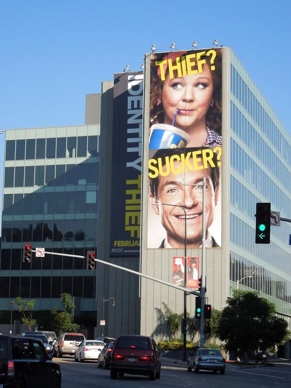 Giant Identity Thief movie billboard