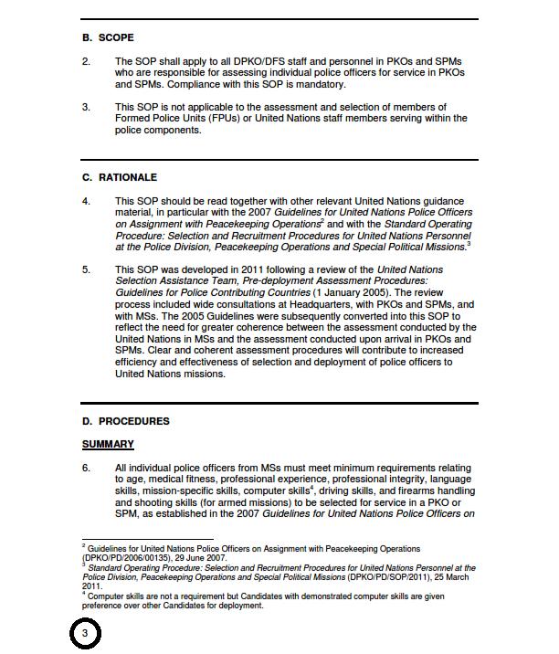 For un saat exam help un saat sop 2012 standard for Standard operating guidelines template