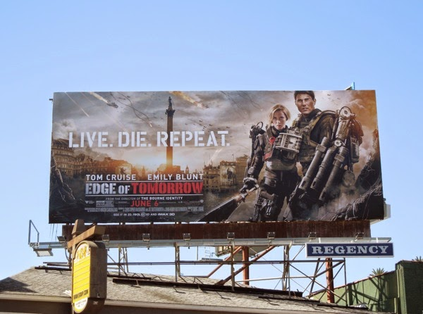 Edge of Tomorrow film billboard