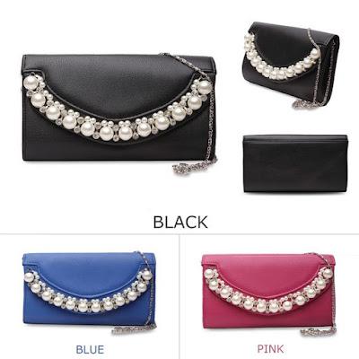 Styleand Elegan Hiega Pearl Luxury Clutch Bag Rp.179 Ribu, kode T236