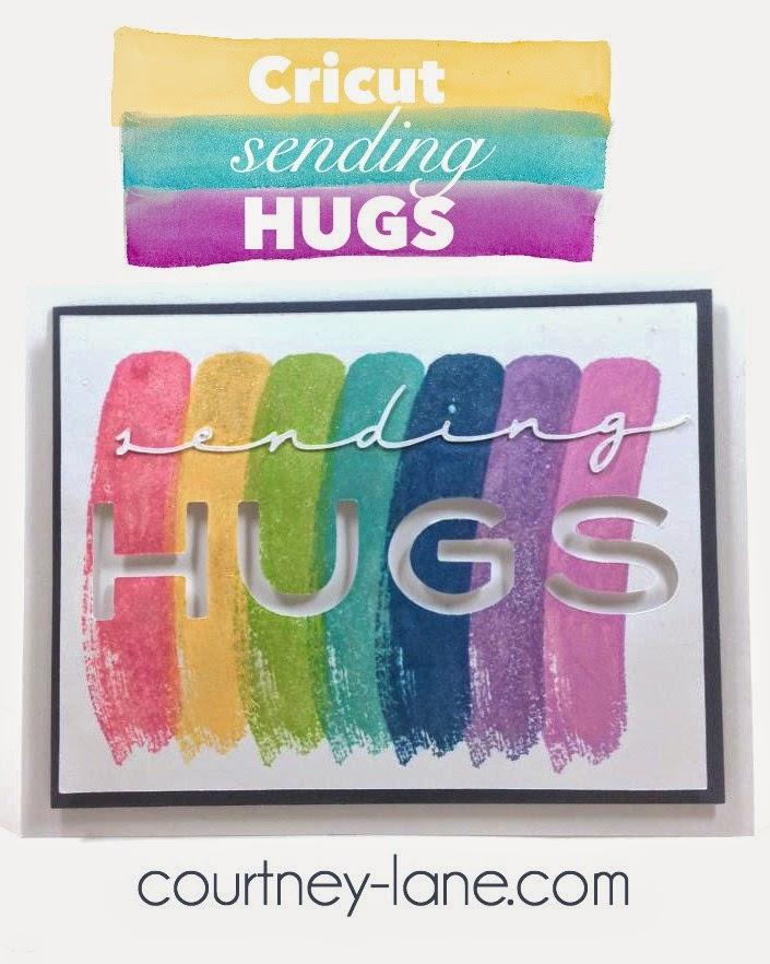 Cricut Sending Hugs card