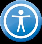 Logo de accesibilidad usado por APple