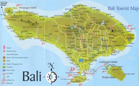 Peta Pulau Bali