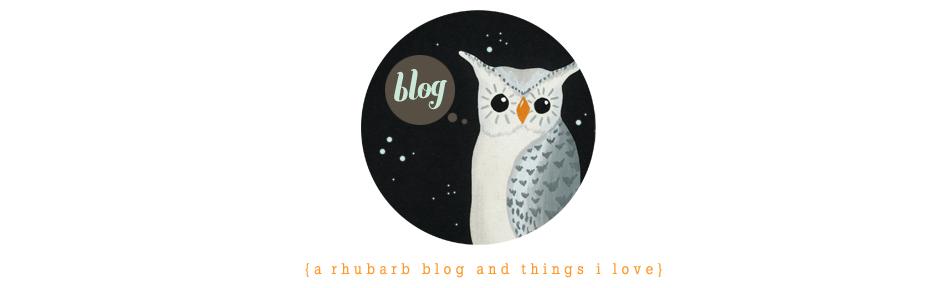 Rhubarb - a blog