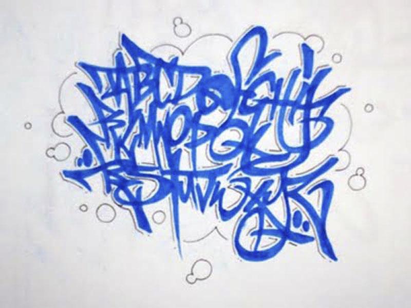 Graffiti Wallpapers Blue Letras De Graffiti Abecedario