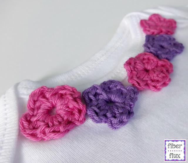 Crochet Flower Shirt Pattern : Fiber Flux: Free Crochet Pattern...Sweet Floral Infant Shirt!