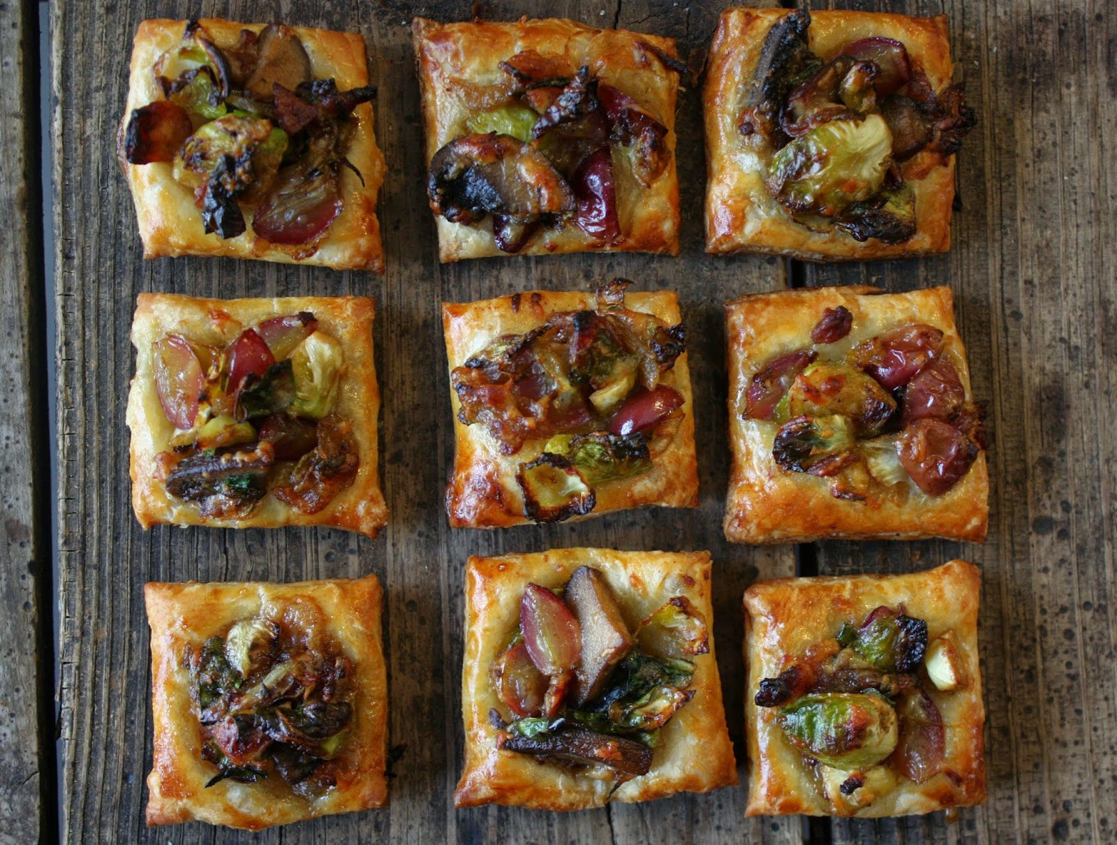 Red Grape and Brussels Sprout Tart