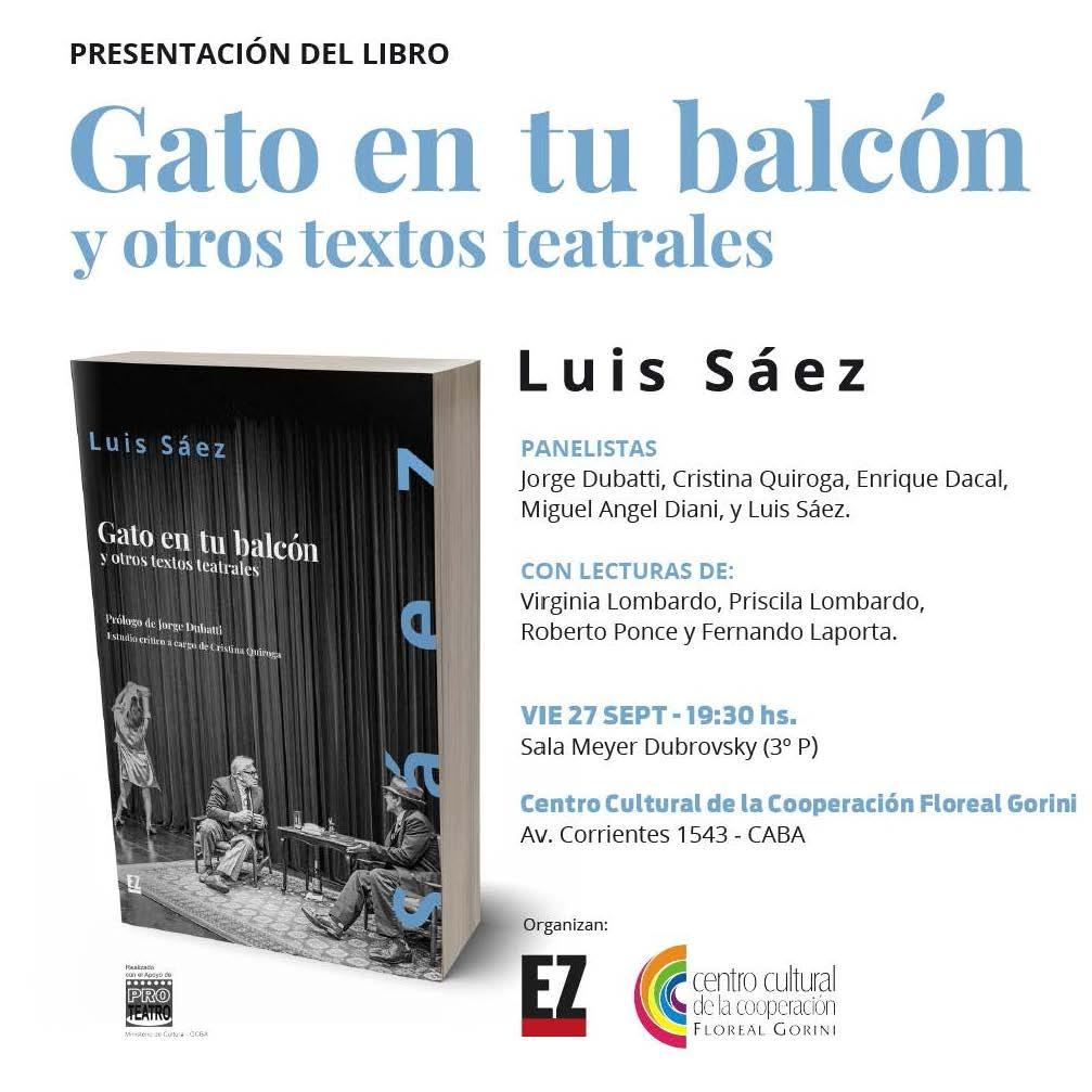 Presentación Libro GATO EN TU BALCÓN