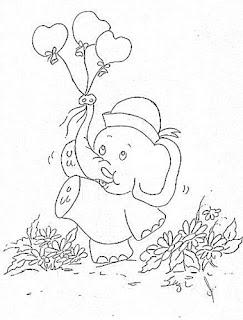 elefantinho com baloes