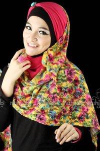 Nuhijab SSB Flower - Yellow Pink (Toko Jilbab dan Busana Muslimah Terbaru)