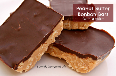Peanut Butter Bonbons Bars from {I Love} My Disorganized Life #peanutbutter #dessert