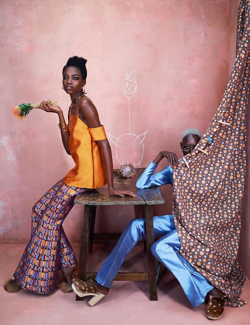 LOOKBOOK: AJAK DENG & MARIA BORGES SUR AFRICA RISING