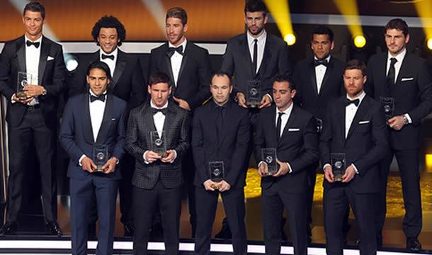 El Equipo Ideal de la FIFA 2012