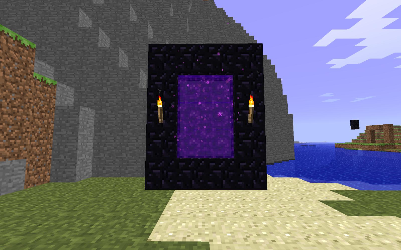 Как сделать портал в ад minecraft pocket