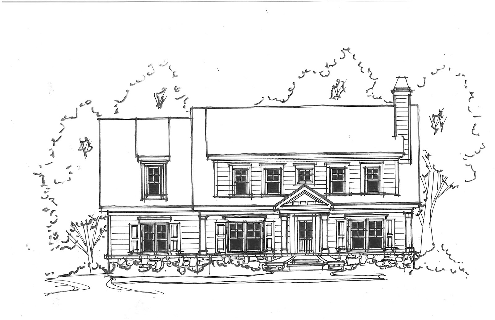 Design dump exterior elevations of our new house for Sketch house plans
