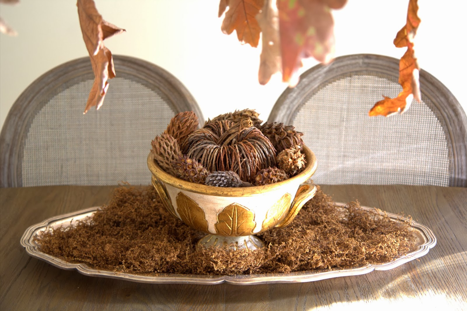 Pumpkin and Pinecone Centerpiece