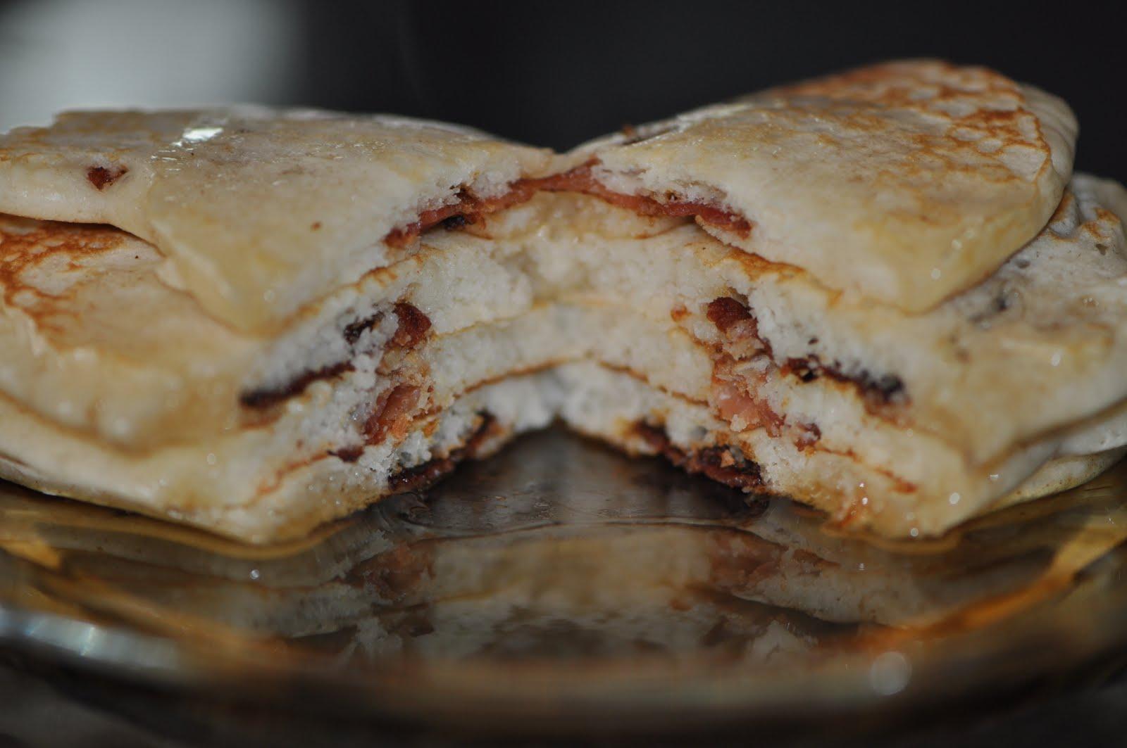 Simple Pleasures: Bacon Filled Pancakes
