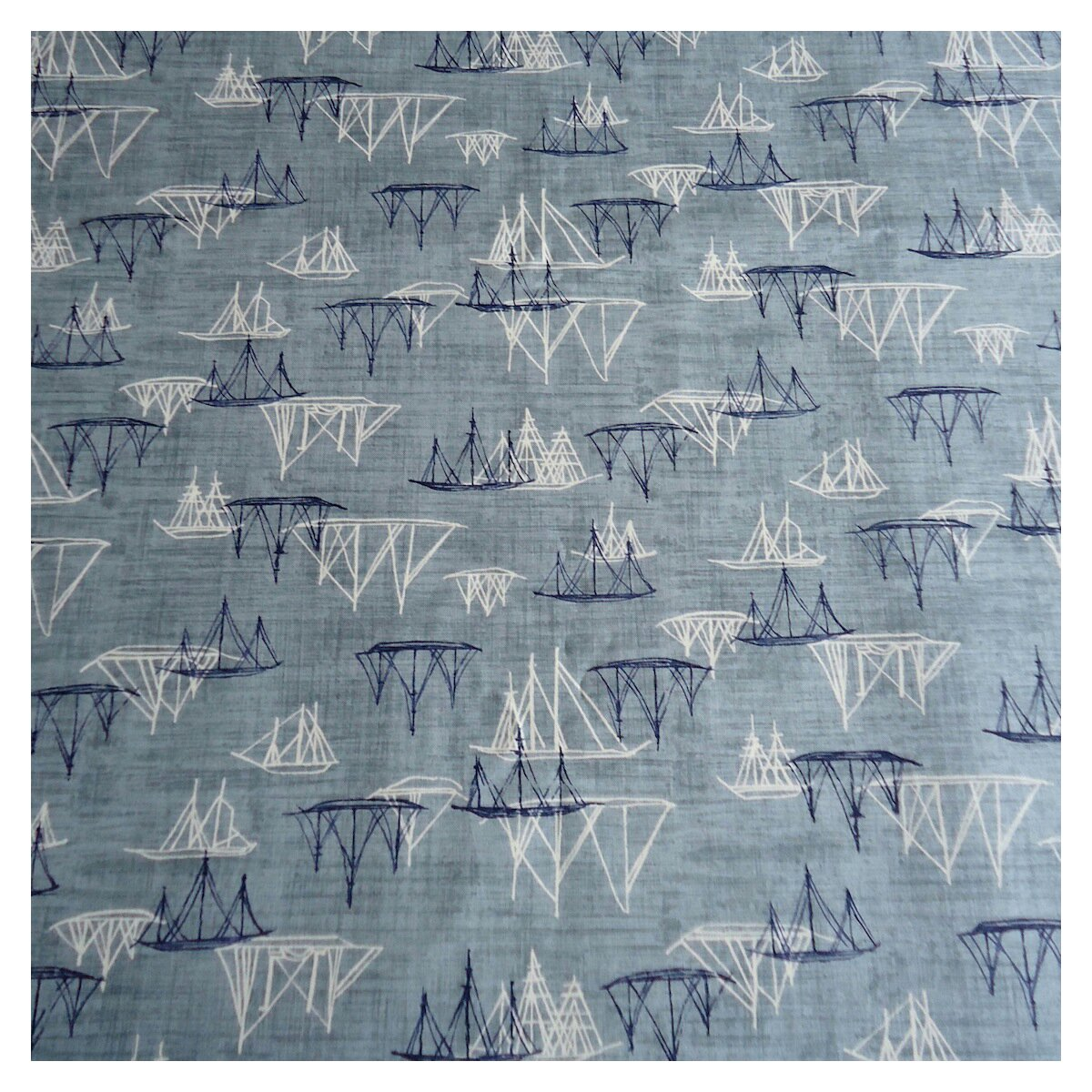 Sailing boat fabric by Janet Clare: Hearty Good Wishes at Moda Japan