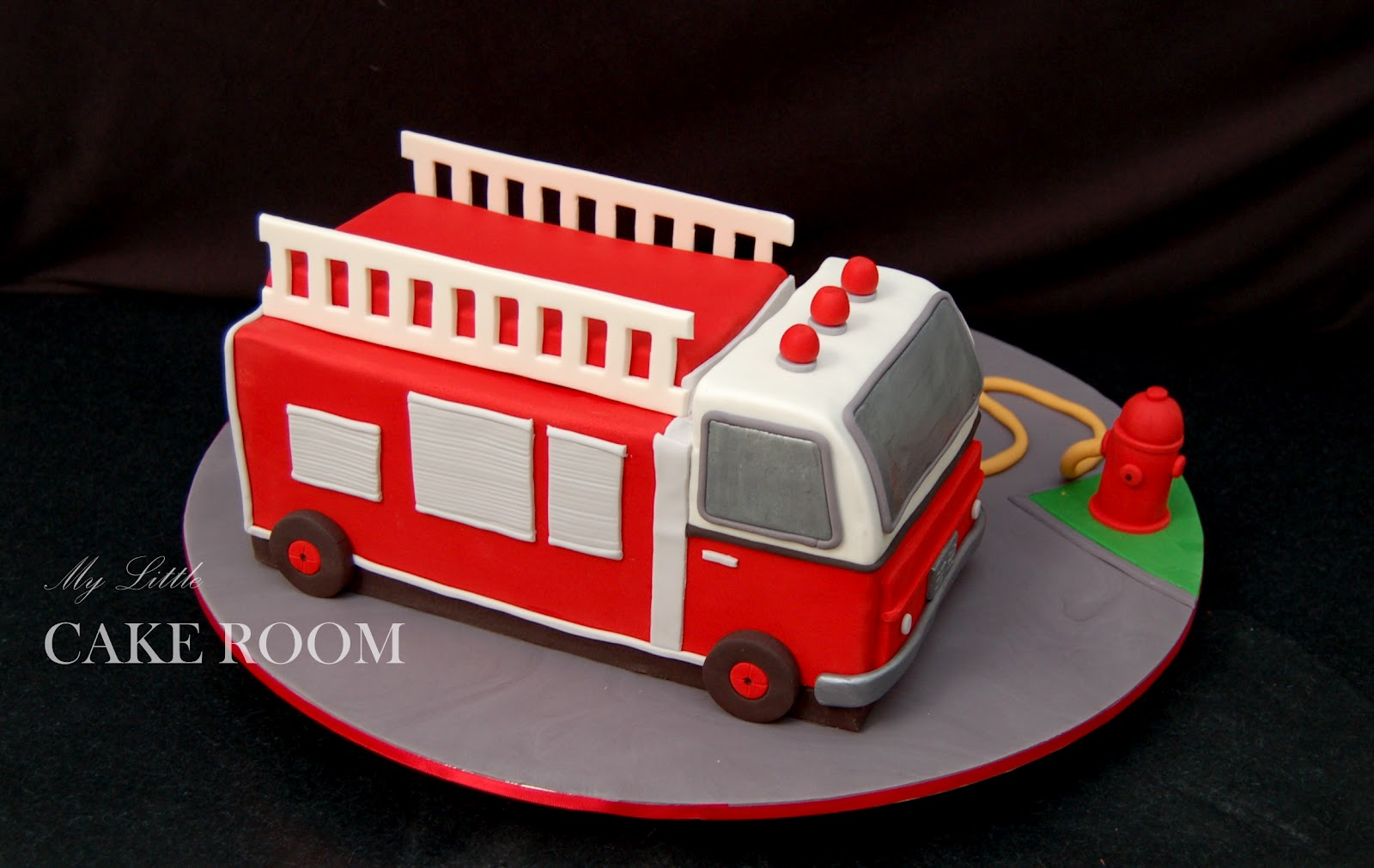 Fire Truck Cake Design : My Little Cake Room