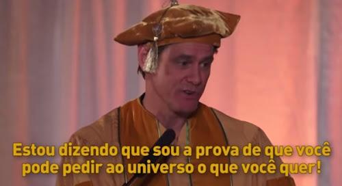 O discurso inspirador do Jim Carrey sobre o futuro
