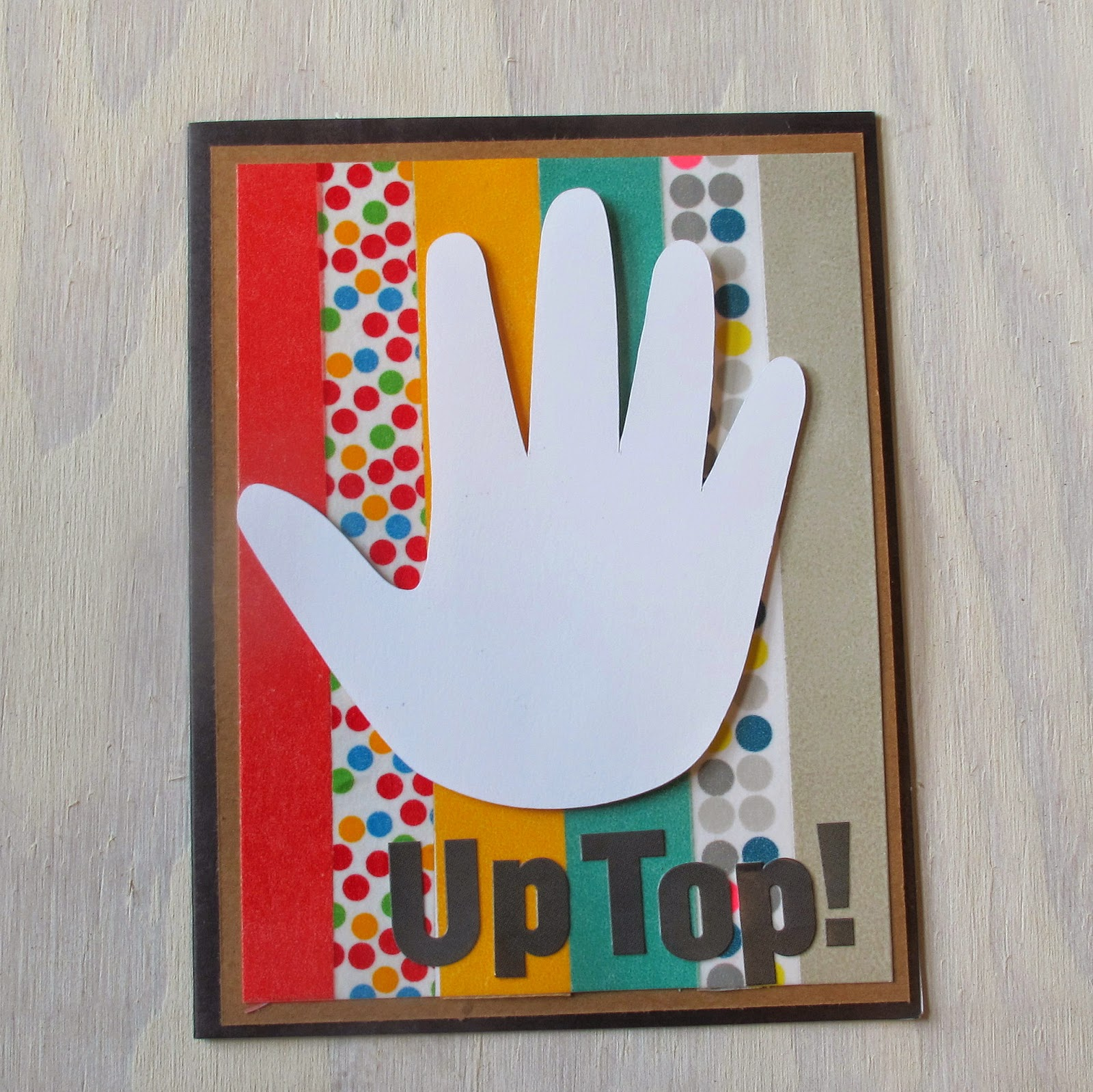 High Five Handmade Card